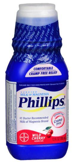 Walgreens: 12-Oz Phillips Milk of Magnesia (Cherry)
