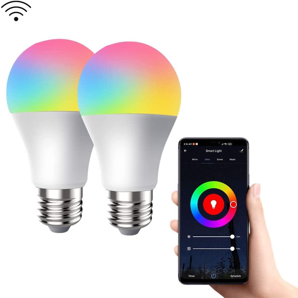 Crestin 9W Smart LED Bulb 2-Pack