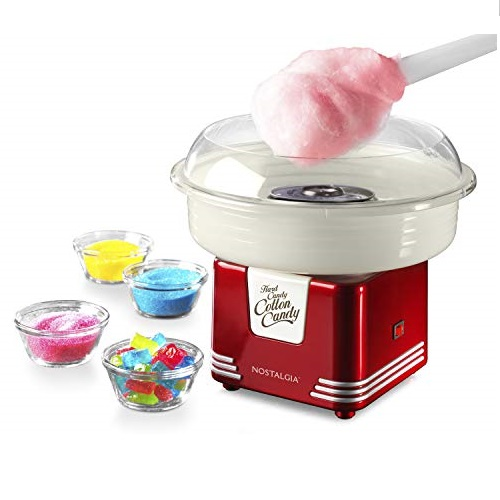 Nostalgia PCM45RR Retro Hard and Sugar Free Countertop Original Cotton Candy Maker