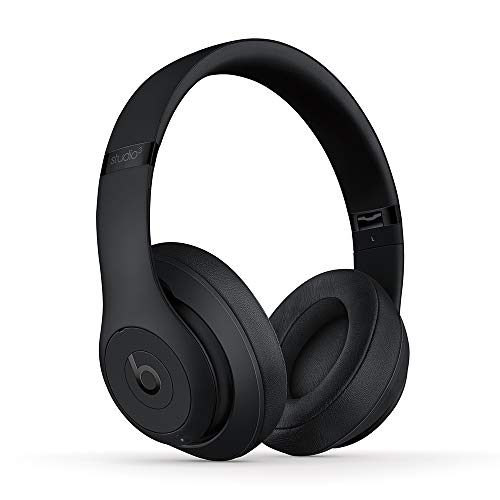 Beats Studio3 Wireless Noise Cancelling Over-Ear Headphones - Apple W1 Headphone Chip, Class 1 Bluetooth, 22 Hours of Listening Time, Built-in Microphone - Matte Black (Latest Model)