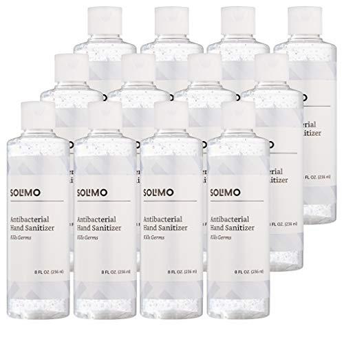 Solimo 70%乙醇无味洗手液, 8 oz/瓶,共12瓶