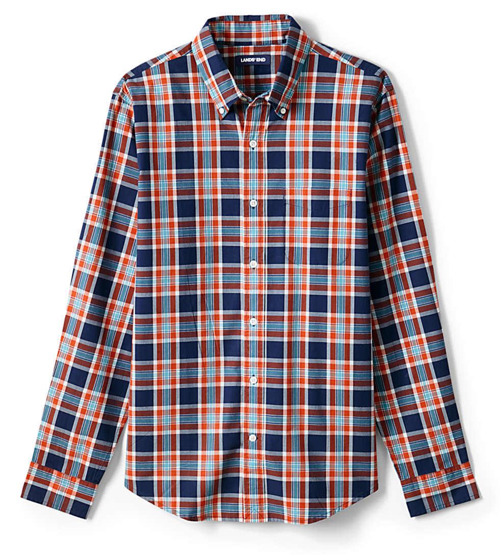 Lands' End Men's Traditional Fit Essential Poplin Shirt