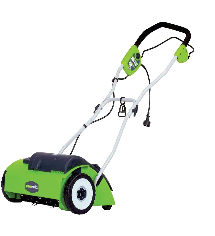 """GreenWorks 14"""" 10-Amp Corded Dethatcher"""