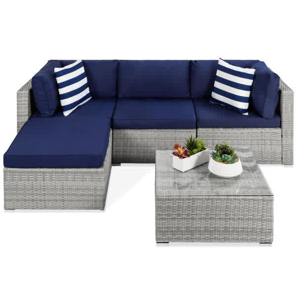 Best Choice Products Best Choice 5-Piece Modular Wicker Sectional Set