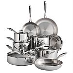 Tramontina Tri-Ply Clad 14-Piece Stainless Steel Cookware Set