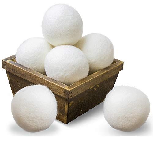 SnugPad 可重复使用 超大号 纯羊毛烘干球,6个装