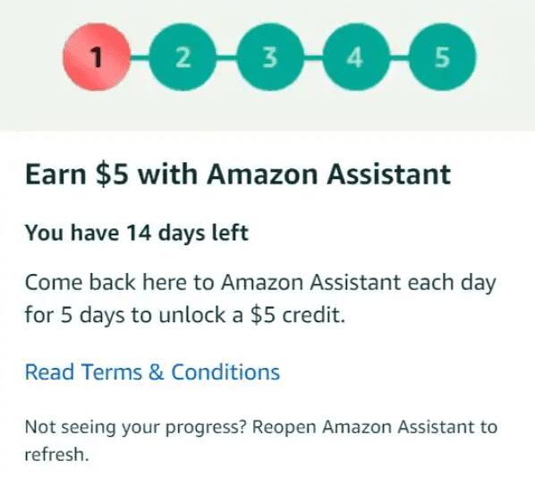 Select Accounts: Open Amazon Assistant for 5 Days, Get
