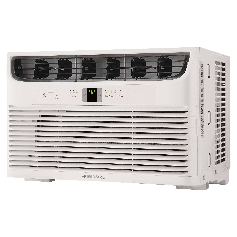 10,000 BTU Frigidaire 115-Volt Window Air Conditioner w/ Remote + Wi-Fi (White)