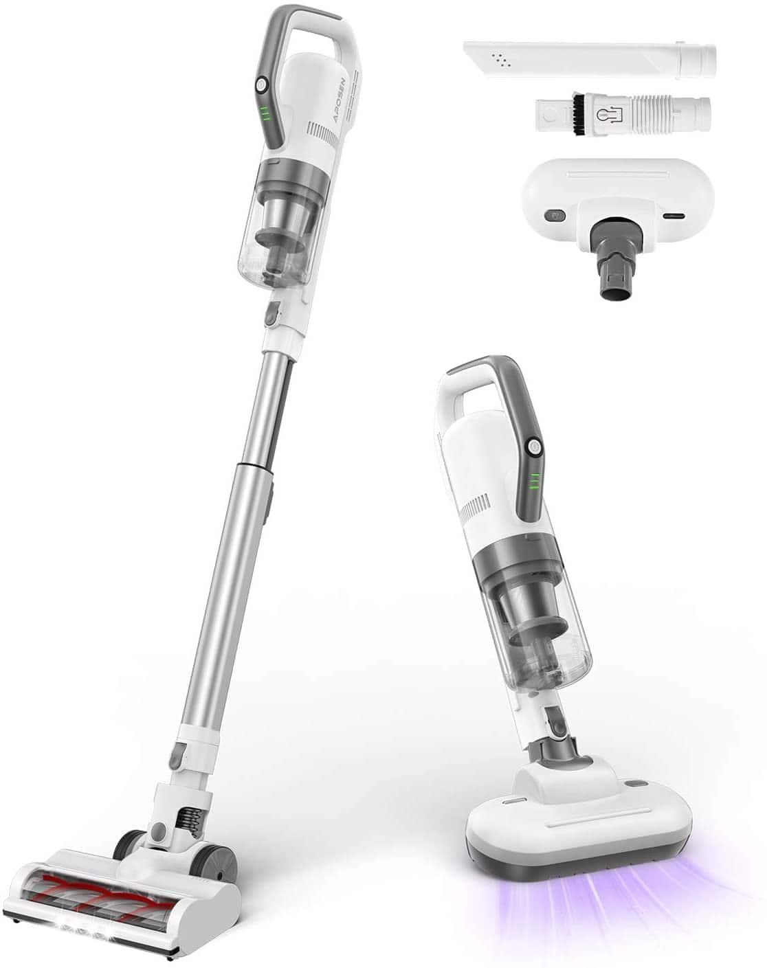 APOSEN 4 in 1 Cordless Stick Vacuum Cleaner w/ Brushless Motor
