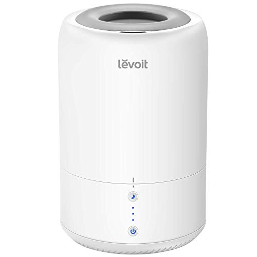 LEVOIT Humidifiers for Bedroom, Cool Mist Humidifier for Babies, Top Fill Ultrasonic Air Humidifier, Essential Oil Diffuser with Smart Sleep Mode, Whisper Quiet Operation, Auto Shut Off
