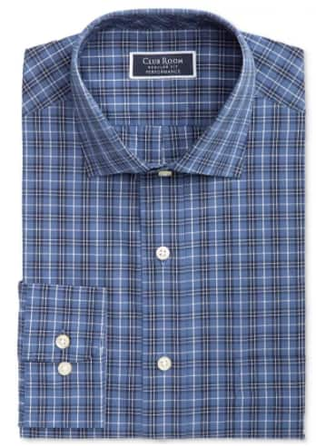 Men's Dress Shirts: Club Room Heritage Dress Shirt (navy) + 6% SD Cash Back
