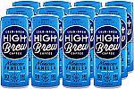 12Pk High Brew Cold Brew Coffee 8oz Mexican Vanilla