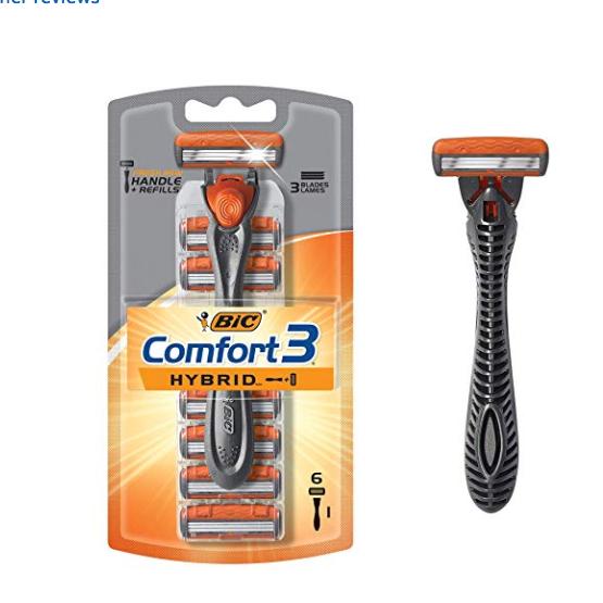 BIC Comfort 三重刀片 剃须刀套装+6件替换刀头