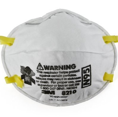 3M Personal Protective Equipment Particulate Respirator 8210, N95