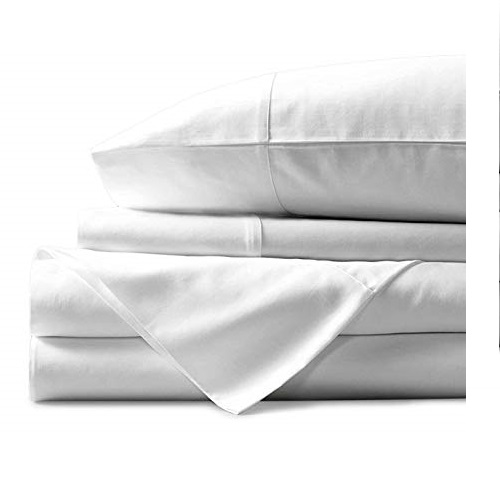 Mayfair Linen 100% Egyptian Cotton Sheets, White King Sheets Set, 800 Thread Count Long Staple Cotton