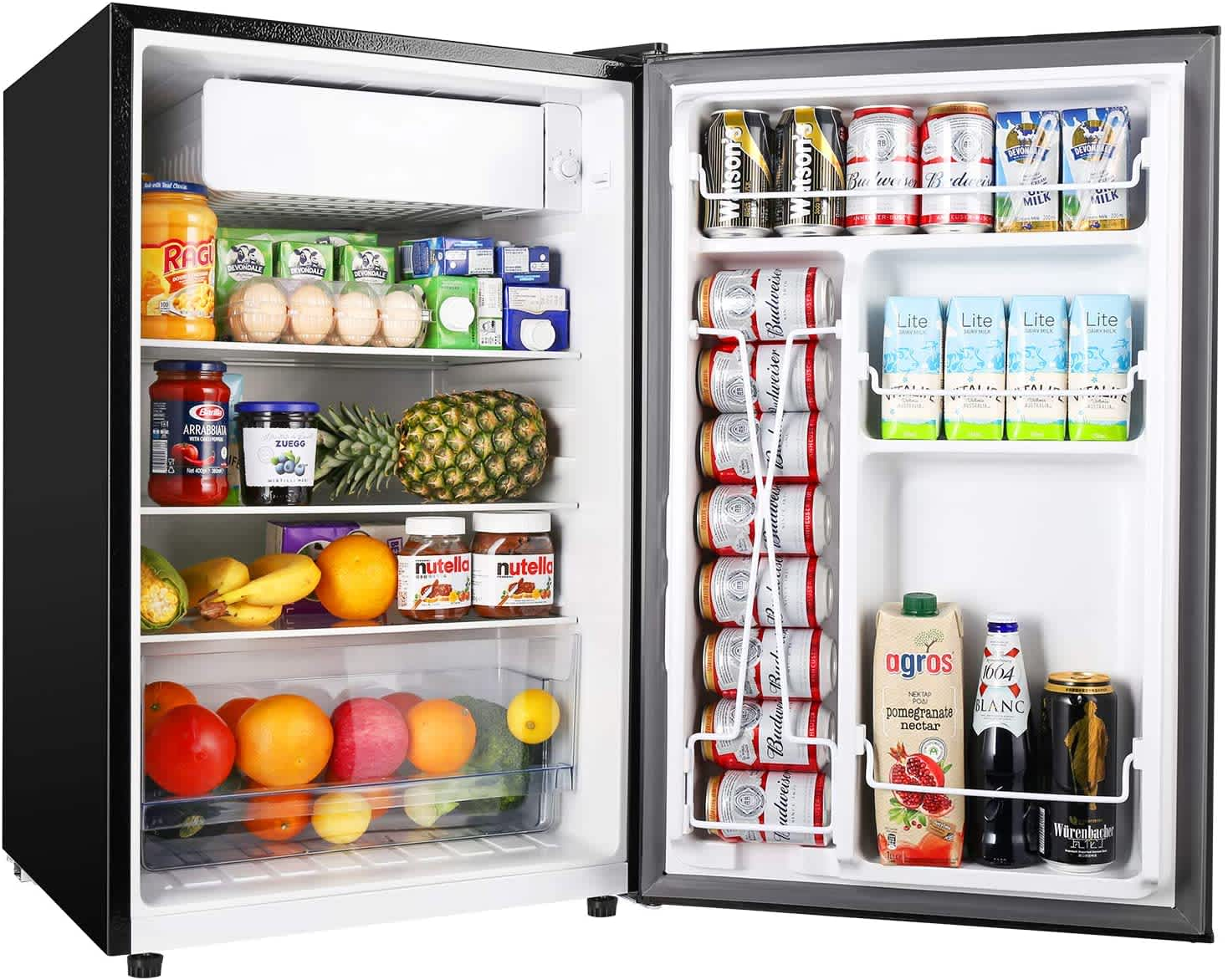 Teccpo 4.5-Cu. Ft. Mini Fridge with Freezer