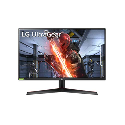 LG 27GN800-B 27 Inch Ultragear QHD (2560 x 1440) IPS Gaming Monitor with IPS 1ms (GtG) Response Time / 144Hz Refresh Rate and NVIDIA G-SYNC Compatible with AMD FreeSync Premium - Black