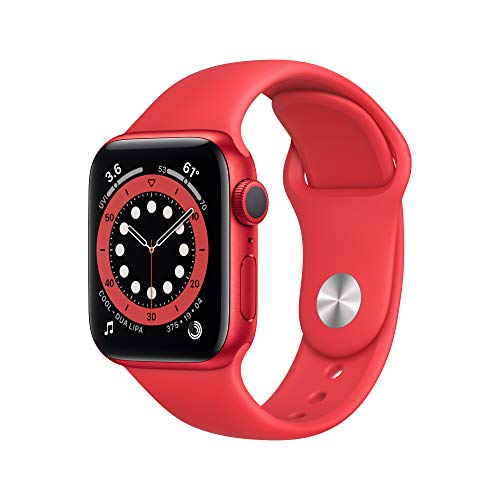 New Apple Watch Series 6 (GPS, 40mm) - (Product) RED - Aluminum Case with (Product) RED - Sport Band