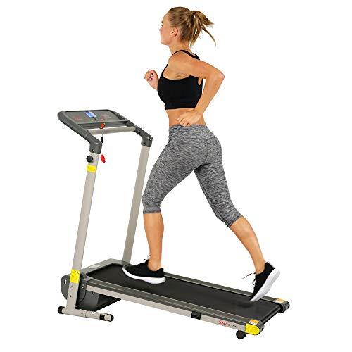 Sunny Health & Fitness 可折叠 家用 紧凑型 跑步机