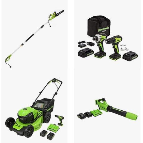 金盒特价!Amazon精选 Greenworks 无绳电动工具大促销!