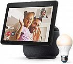 Amazon Echo Show 10 HD Smart Display  (3rd Gen) + Ring A19 Bulb