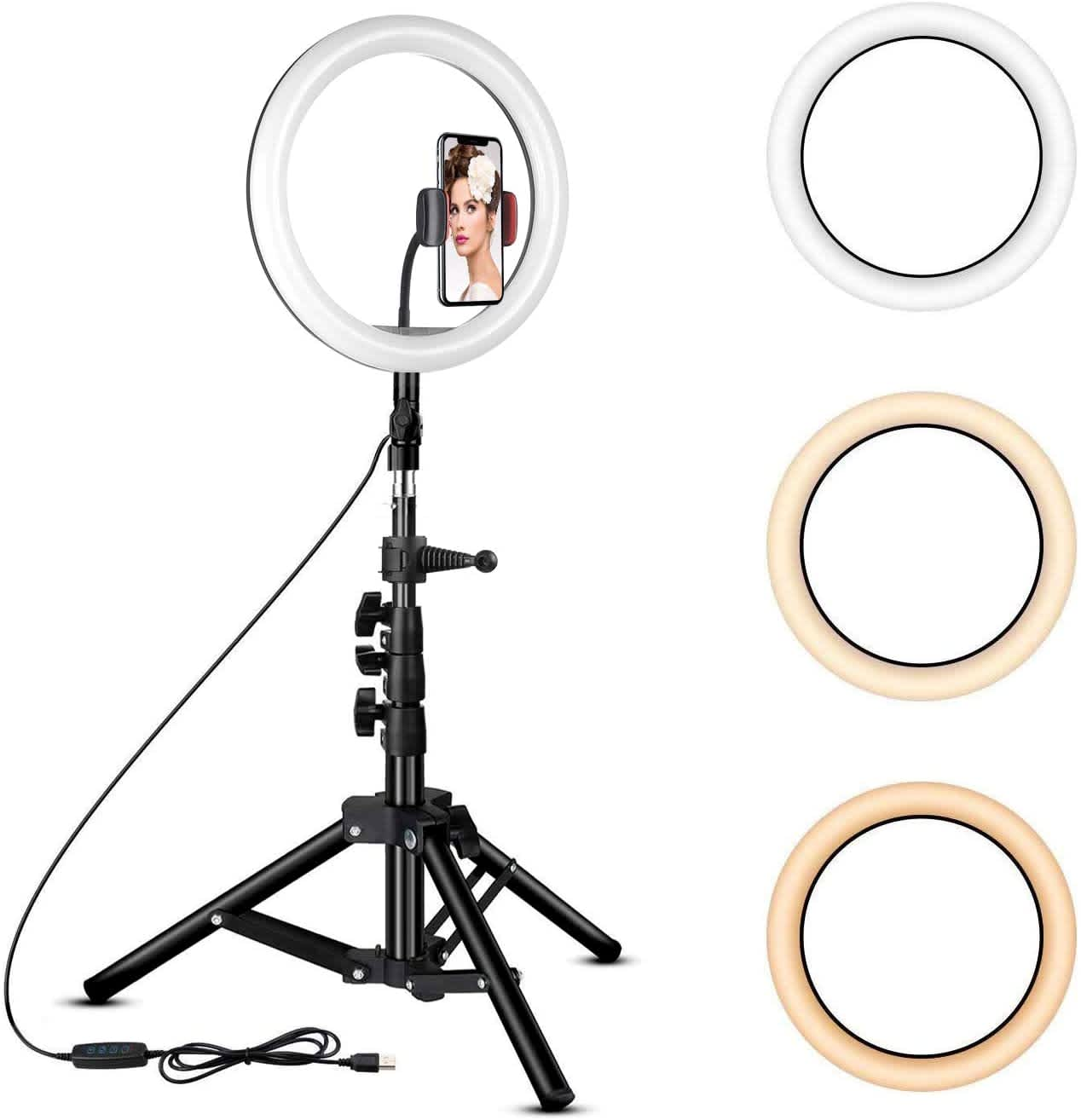 "Rovtop 10"" Ring Light with Tripod Stand"