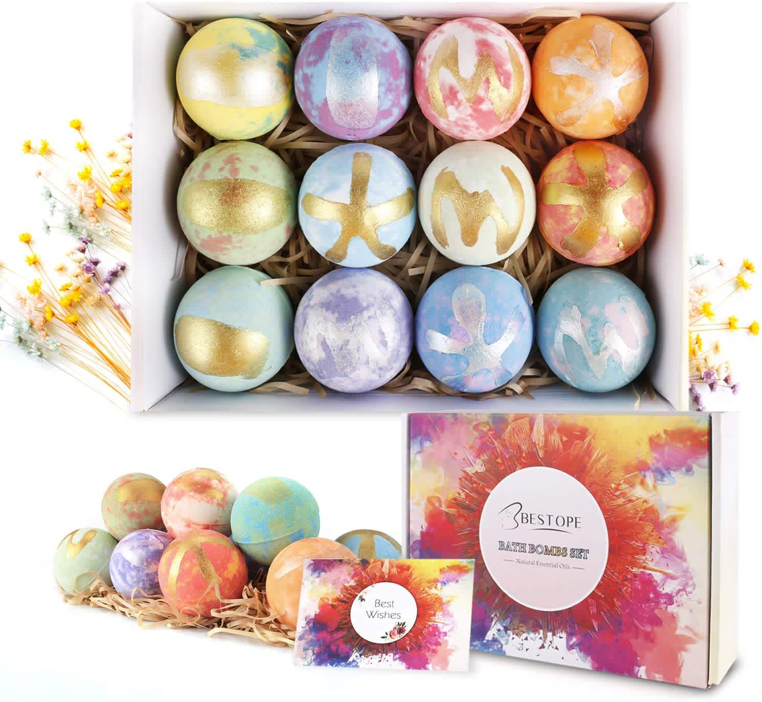 Bestope 12-Piece Bath Bomb Gift Set