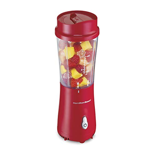 Hamilton Beach 51101RV Single Serve Personal Blender with Travel Lid 14 oz Red