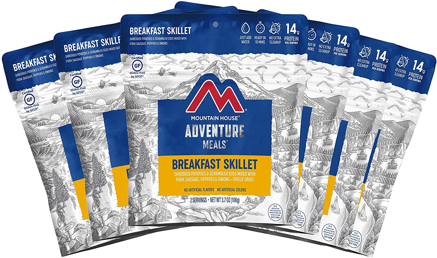 Mountain House Breakfast Skillet Freeze Dried Food 3.7-oz. Pouch 6-Pack