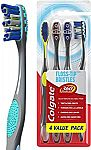 4-Count Colgate 360 Total Advanced Floss-Tip Bristles Toothbrushes (Soft)