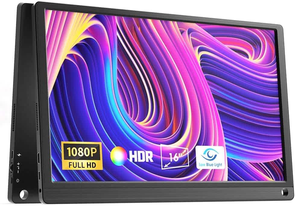 "Geoyeao 16"" 1080p IPS Portable Monitor"