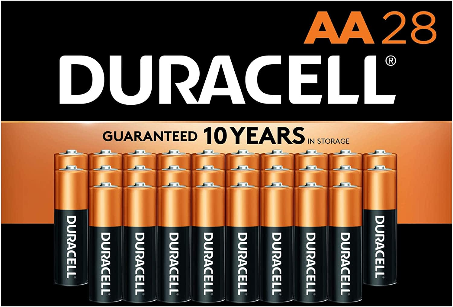 Duracell CopperTop AA Alkaline Batteries 28-Pack