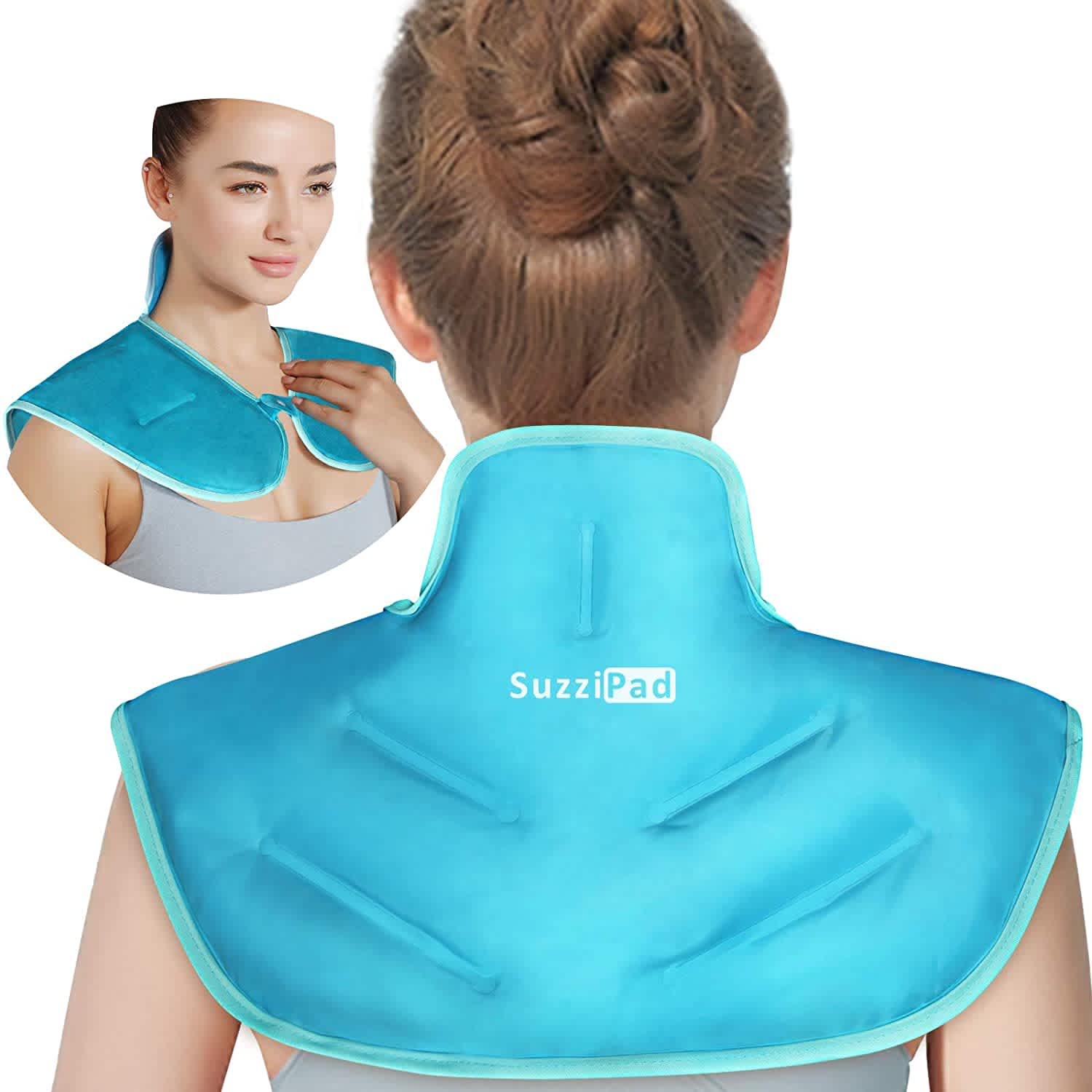 SuzziPad Neck and Shoulder Reusable Gel Ice Pack