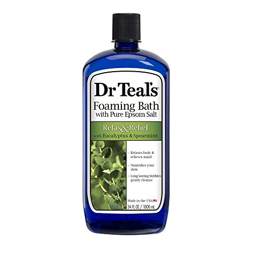 Dr Teal's Foaming Bath (Epsom Salt), Eucalyptus Spearmint, 34 Fluid Ounce, List Price is
