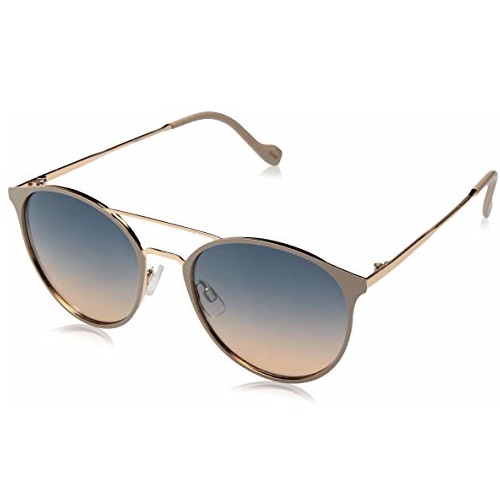 Jessica Simpson J5564 Aviator Graceful Round Metal UV Protective Sunglasses | Wear All-Year | The Gift of Glam, 60 mm, Nude & Rose Gold, List Price is
