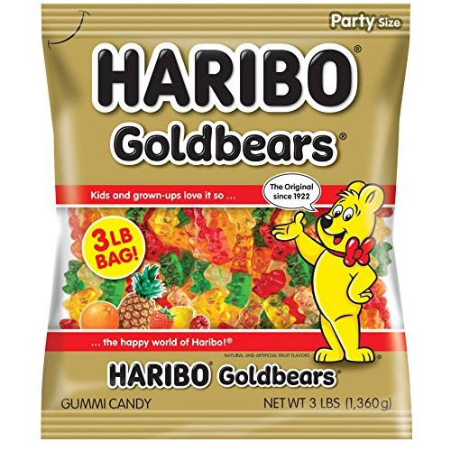 Haribo Goldbears Gummi Candy, 3 Pound Bag, List Price is