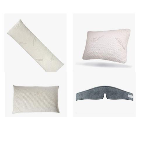 金盒特价!Amazon精选 Snuggle-Pedic 豪华记忆棉舒适睡眠枕、床垫促销!