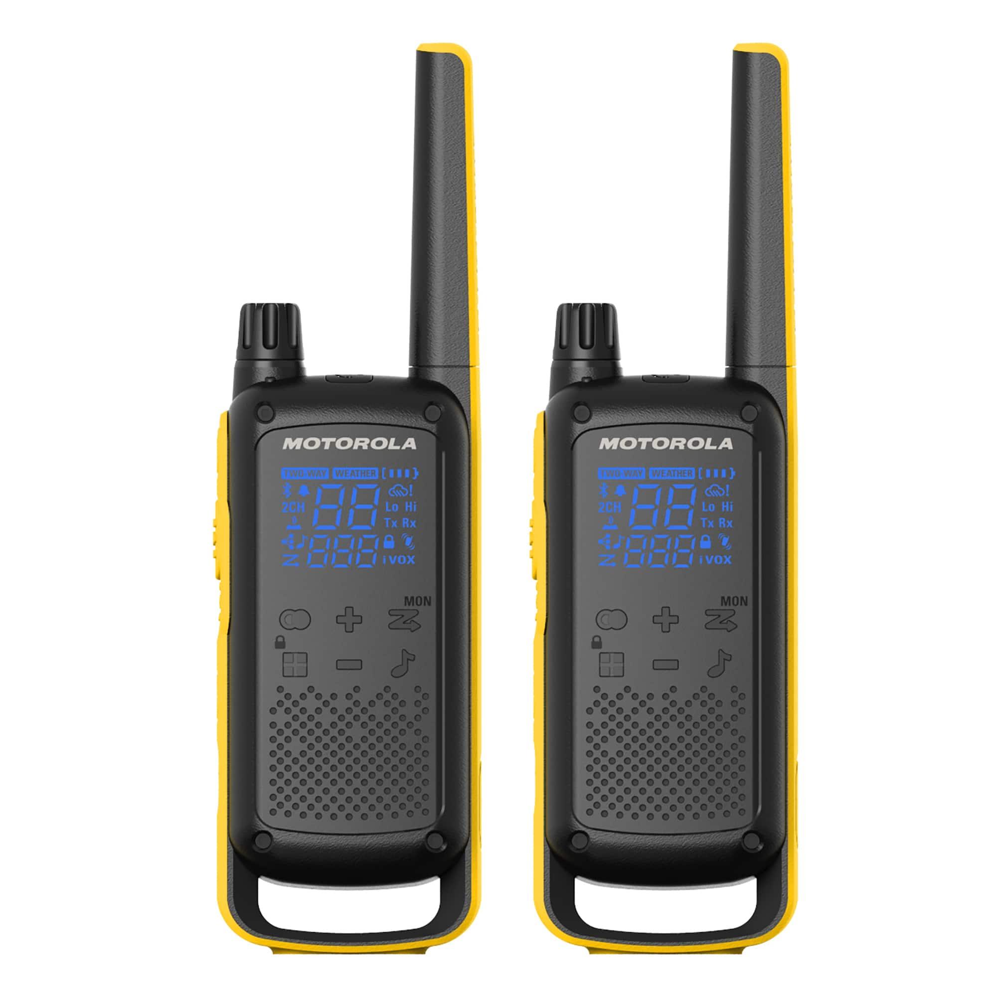 2-Pack Motorola Solutions T470 Two-Way Radio (Black w/ Yellow)