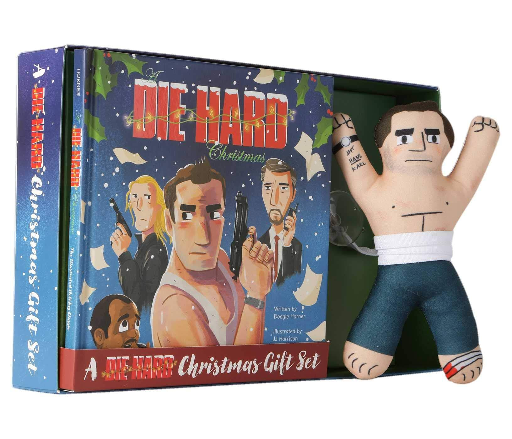 A Die Hard Christmas Gift Set (Hardcover) w/ Plush Toy