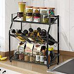 3 Tier Freestanding Kitchen Metal Spice Rack