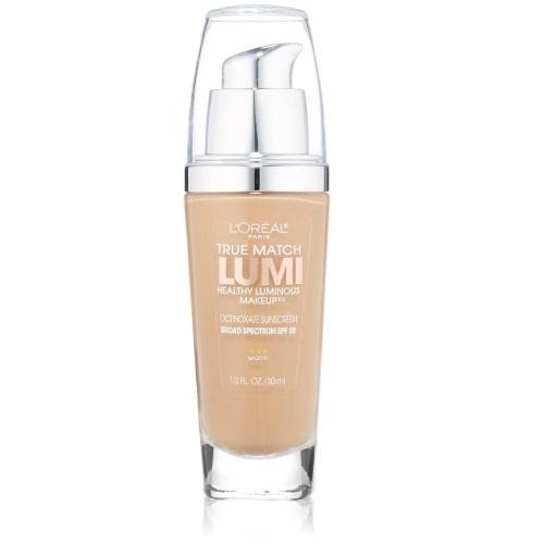 L'Oreal Paris True Match Lumi Healthy Luminous Makeup, W6 Sun Beige, 1 fl. oz.
