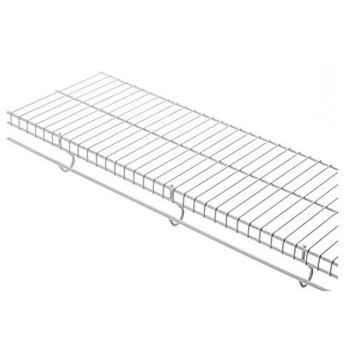 Rubbermaid Free-Sliding Wire Shelf, White, FG3G4400WHT