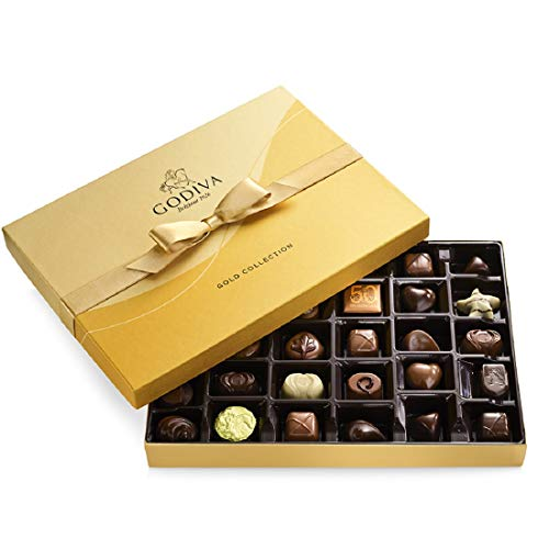 Godiva Chocolatier Chocolate Gold Gift Box, Assorted, 36 Count, List Price is
