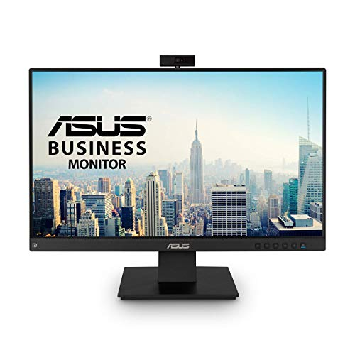 "ASUS BE24EQK 23.8"" Business Monitor with Webcam, 1080P Full HD IPS, Eye Care, DisplayPort HDMI, Frameless, Built-in Adjustable 2MP Webcam, Mic Array, Stereo Speaker"