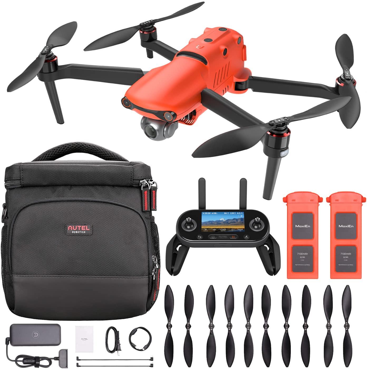 Autel Robotics EVO II Folding Drone Quadcopter 8K HDR Aircraft + On The Go Bundle