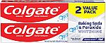 2 Count Colgate Baking Soda and Peroxide Whitening Toothpaste - 6 ounce