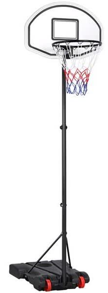 SmileMart Adjustable Portable Basketball Hoop