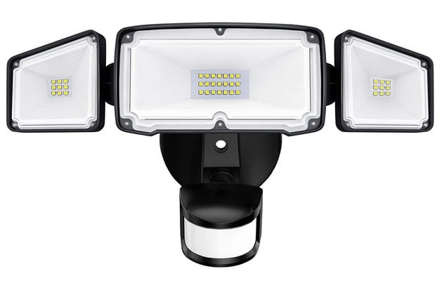 Amico 3-Head Motion Sensor Adjustable Outdoor LED Security Lights