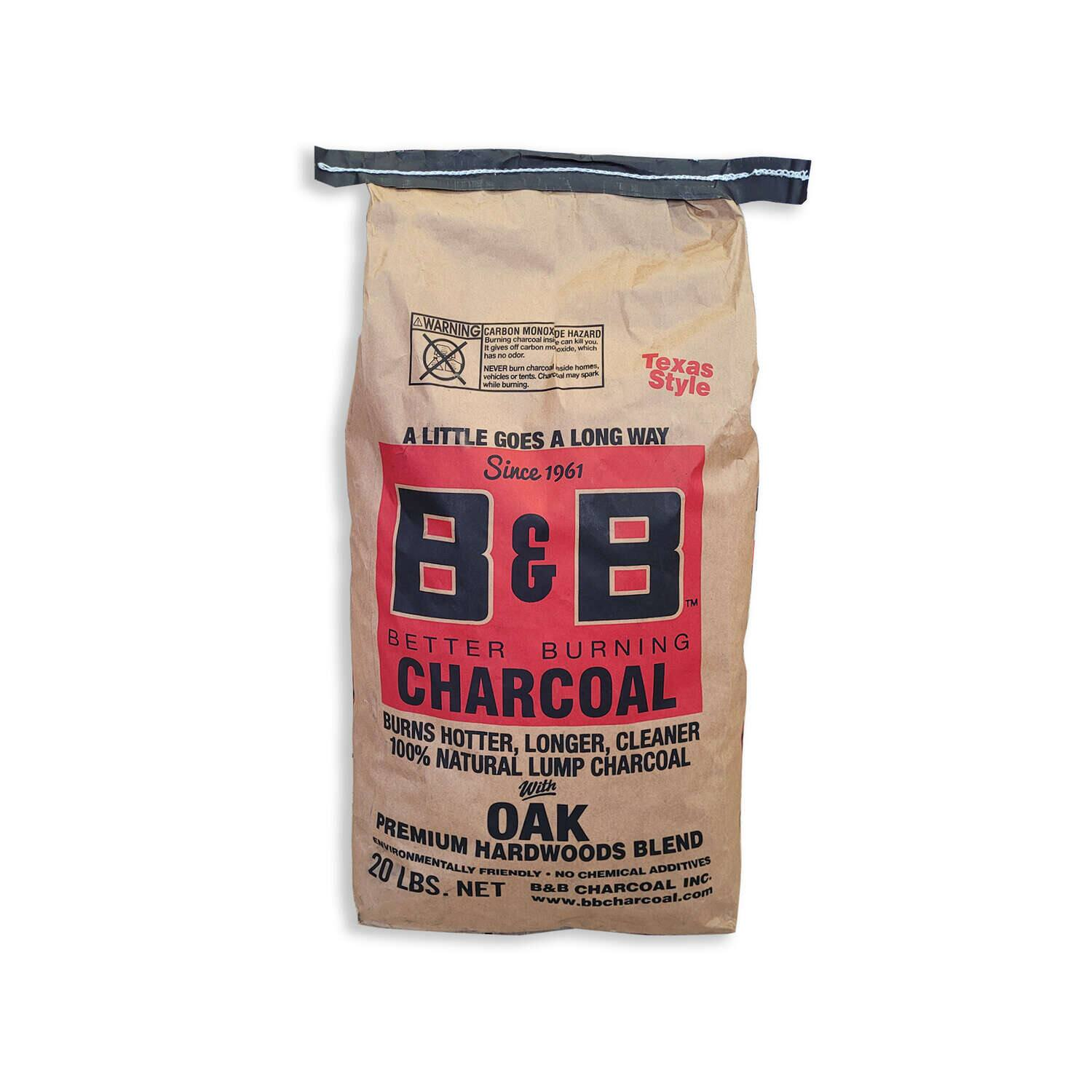 20-lb. B&B All Natural Oak Hardwood Lump Charcoal