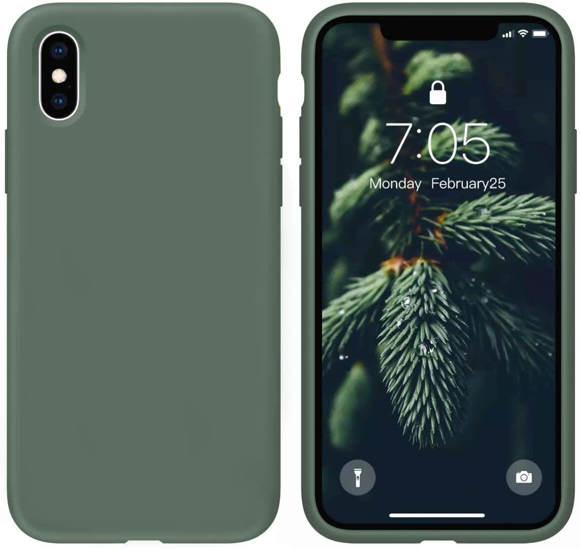 Ouxul Liquid Silicone Case for iPhone X/Xs